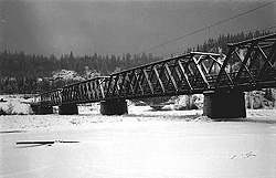 The Nechako Crossing, 3.7 – 4 kilometres from the confluence of the Nechako and Fraser Rivers