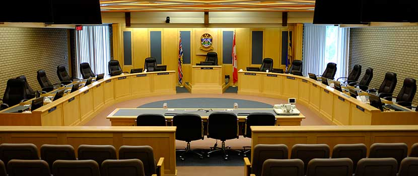 Council Chambers at City Hall
