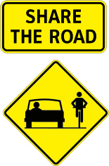 Cyclist left turn hand signal