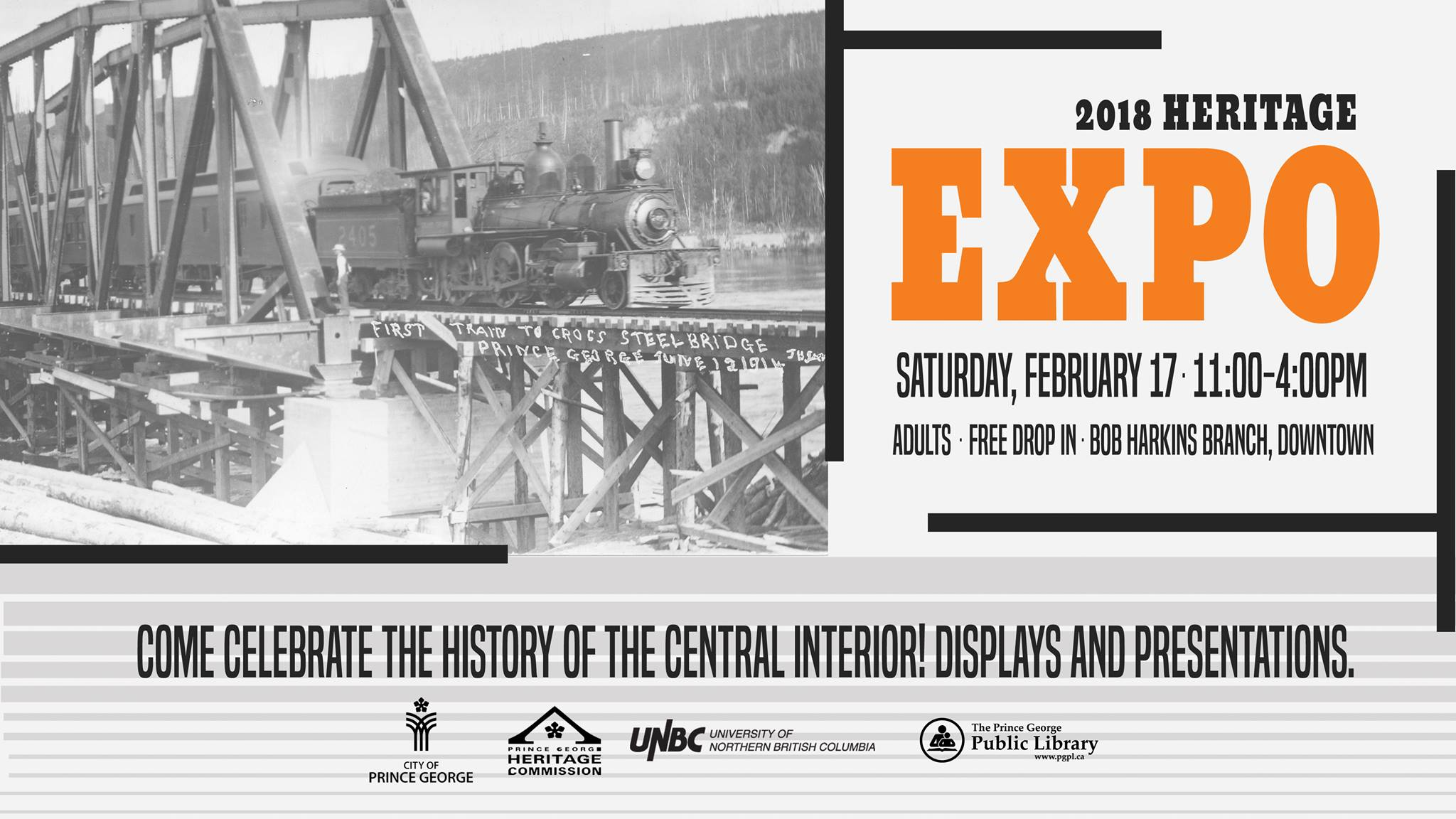 2018 Heritage Expo - celebrate the history of Prince George and the central interior.