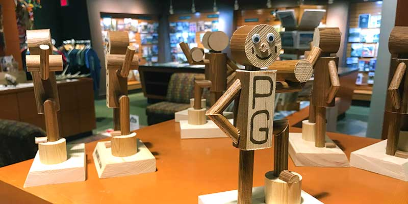 Mr. PG figurines for sale at Tourism Prince George