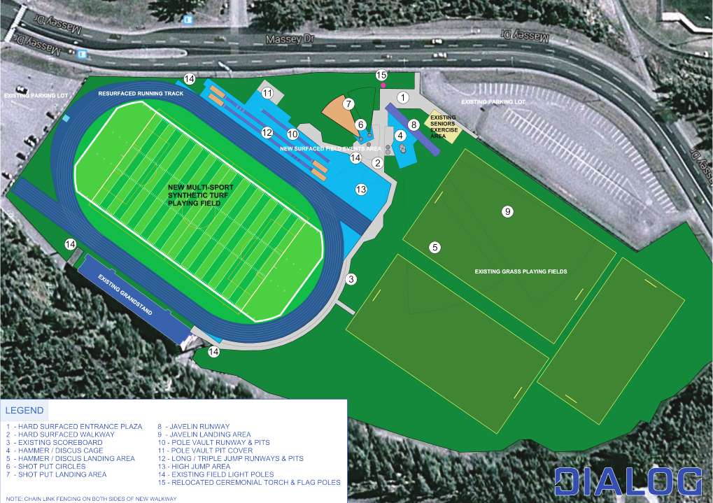 Masich Place Stadium plan
