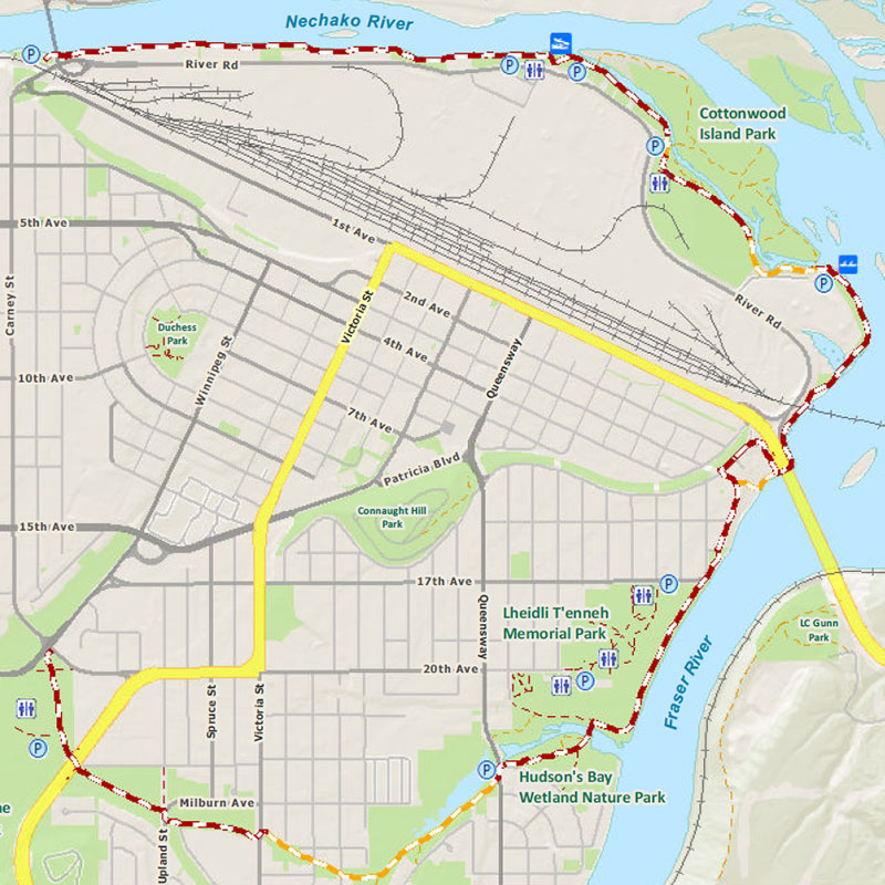 Heritage River Trail map