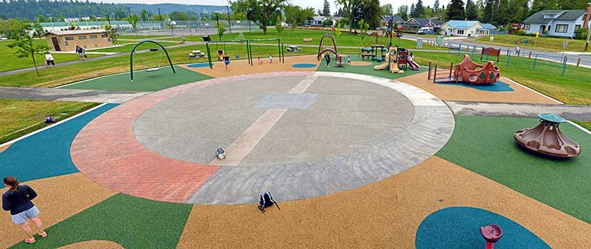 Duchess Park has a fully-accessible playground.