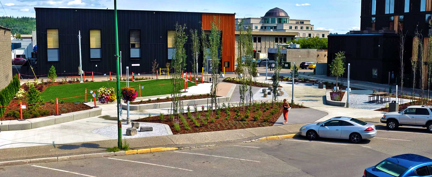 Wood Innovation Square - Prince George's newest downtown park