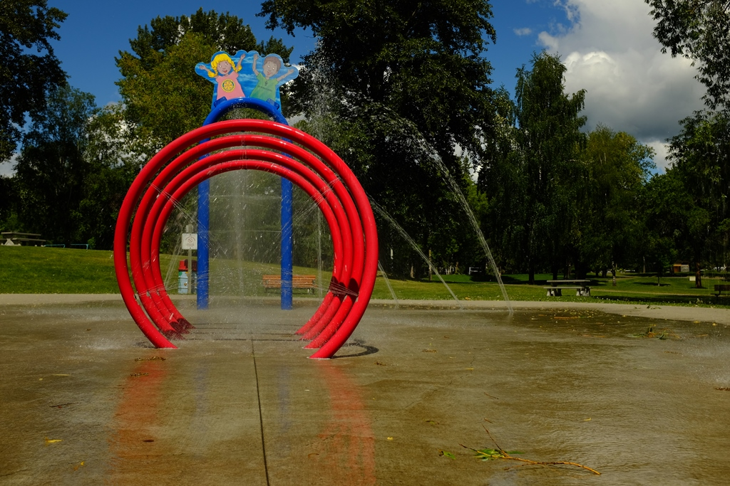Spray Park at Lheidli T'enneh Memorial Park